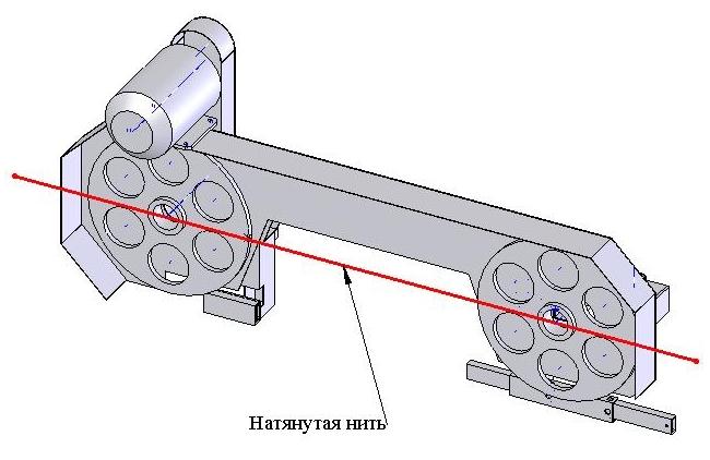 Соосность шкивиов на ведущем элементе